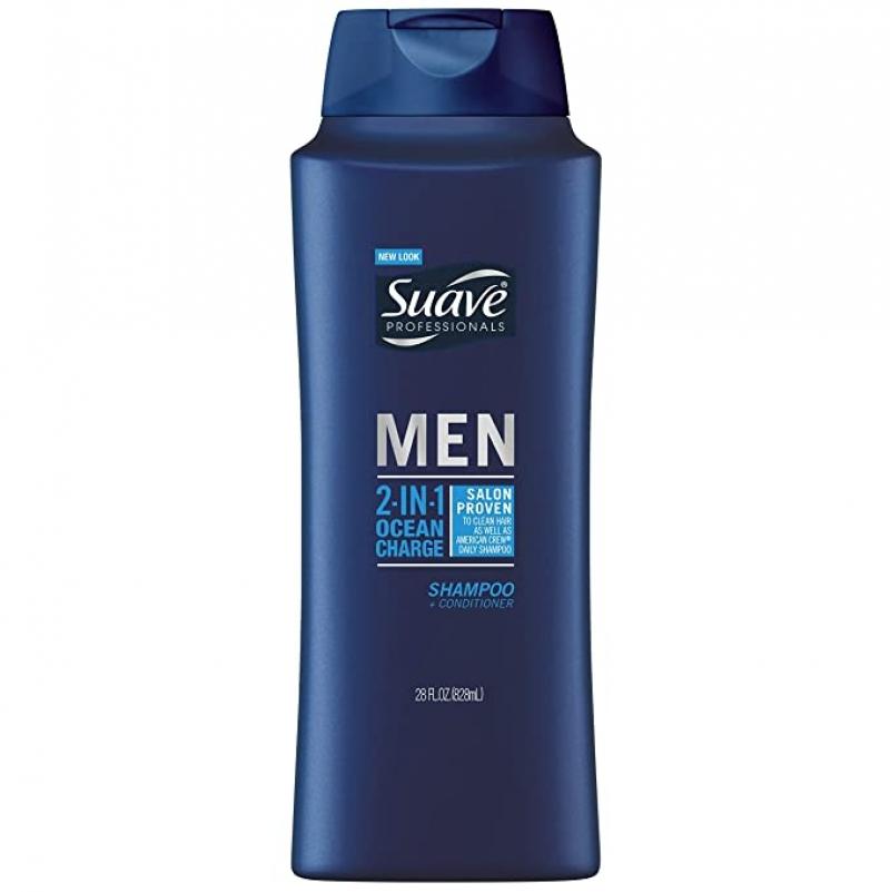 Suave 男士 2合1洗髮/護髮乳28oz $2.09(原價$2.94)