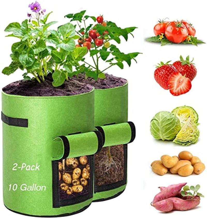 ihocon: PRXIEMSG Potato Grow Bags 10 Gallon 2 Pack 馬鈴薯種植袋