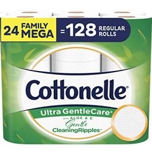 ihocon: Cottonelle Ultra GentleCare Toilet Paper with Gentle CleaningRipples, 24 Family Mega Rolls 廁所衛生紙家庭號超大卷
