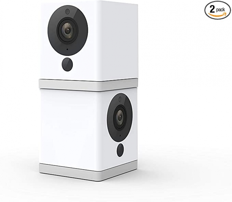 ihocon: Wyze Cam 1080p HD Indoor Wireless Smart Home Camera with Night Vision, 2-Way Audio, Works with Alexa & the Google Assistant (Pack of 2)居家安全無線智能監視鏡頭