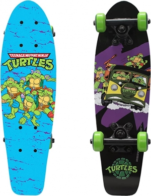ihocon: PlayWheels Teenage Mutant Ninja Turtles 21 Wood Cruiser Skateboard, Turtles on the Go 滑板