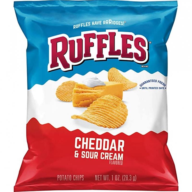 ihocon: Ruffles Potato Chips, Cheddar Sour Cream, 1oz (40 Count)薯片