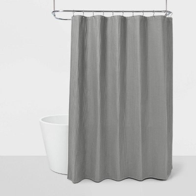 ihocon: Waffle Shower Curtain 華夫格淋浴簾-多色可選