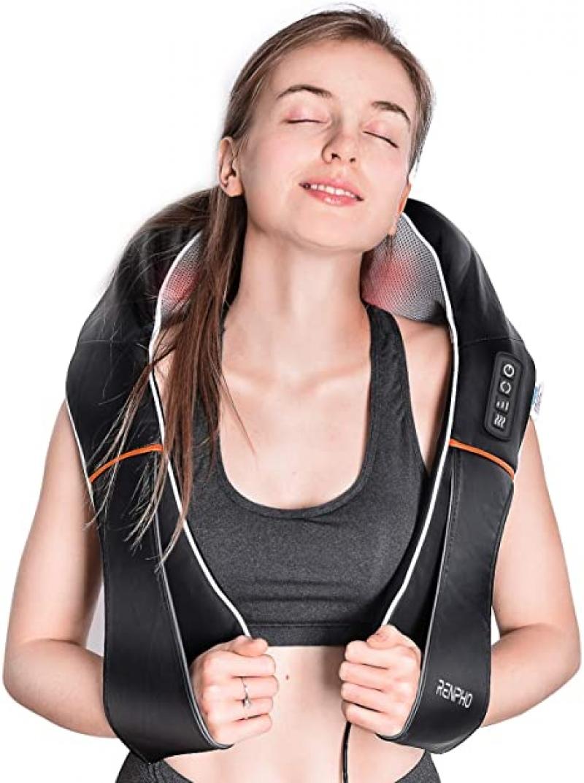 ihocon: RENPHO Shiatsu Neck and Shoulder Back Massager with Heat 肩頸加熱按摩器