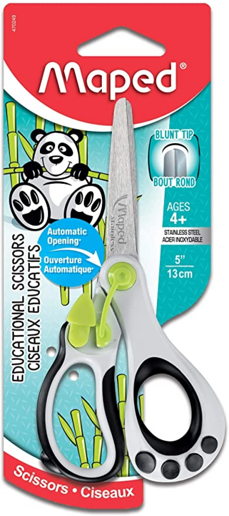 ihocon: Maped Koopy Spring-Assisted Educational Scissors, Kids, 5吋兒童剪刀