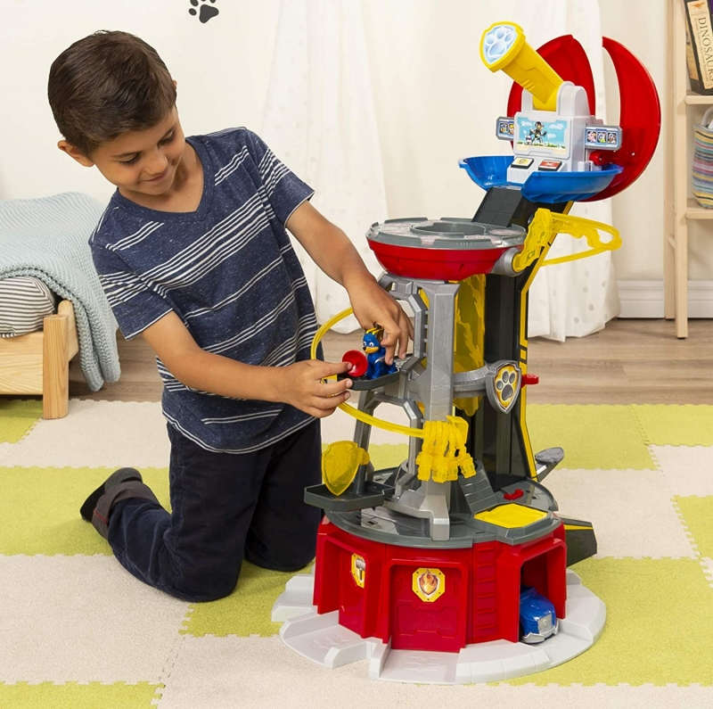 ihocon: 兒童玩具 PAW Patrol, Mighty Pups Super PAWs Lookout Tower Playset with Lights and Sounds 聲光瞭望塔