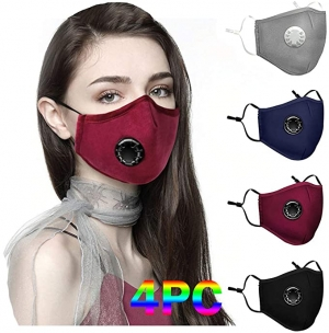 ihocon: Sinohomie Face Bandana 4PC Reusable 成人可重複使用口罩