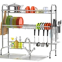 ihocon: Veckle 2 Tier Over the Sink Stainless Steel Dish Drying Rack 雙層水槽不銹鋼碗盤架