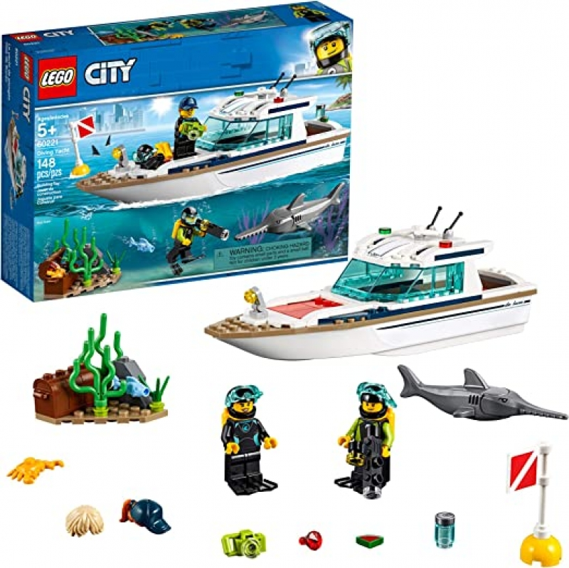 ihocon: LEGO City Great Vehicles Diving Yacht 60221 Building Kit (148 Pieces)