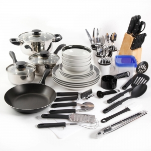 ihocon: Gibson Home Essential Total Kitchen 83-Piece Combo Set 鍋盤組