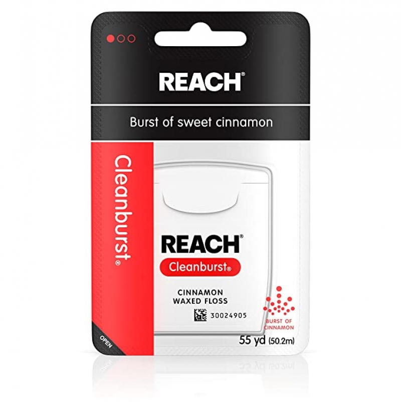ihocon: Reach Cleanburst Waxed Dental Floss, Oral Care, Cinnamon Flavored, 55 Yards (Pack of 6)牙線