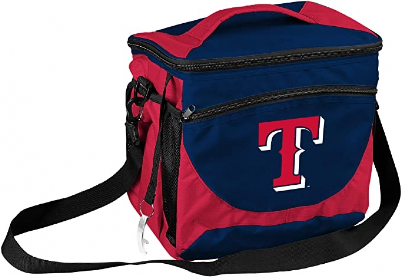 ihocon: logobrands MLB Texas Rangers Cooler 24 Can 美國職棒大聯盟德州遊騎兵保冷袋