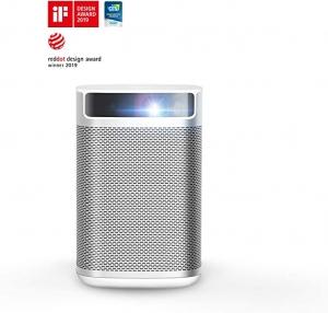 ihocon: XGIMI MoGo Smart Mini Portable Projector With Wi-Fi & Bluetooth (Silver)迷你投影機