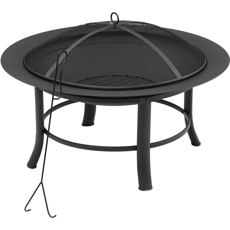 ihocon: Mainstays 28 Fire Pit with PVC Cover and Spark Guard 室外含罩烤火爐