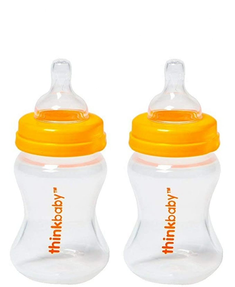 ihocon: Thinkbaby 5oz Baby Bottle, Set of 2 For Ages 0-6 Month 嬰兒奶瓶