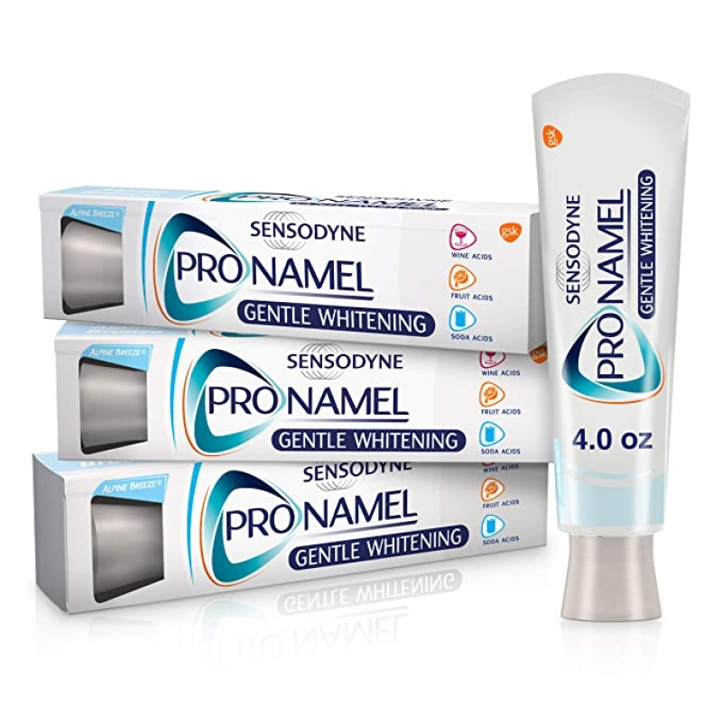 ihocon: Sensodyne Pronamel Gentle Teeth Whitening Enamel Toothpaste, 4 Ounces (Pack of 3) 牙齒美白牙膏, 敏感齒適用