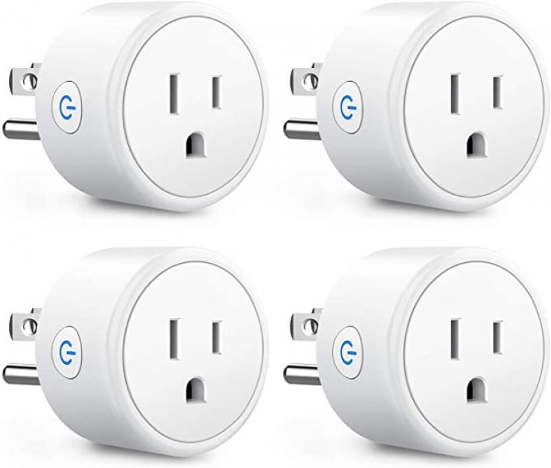 ihocon: [不在家也能遙控電器] Aoycocr Smart Plugs That Work with Alexa Echo Google Home, 4 Pack智能插座