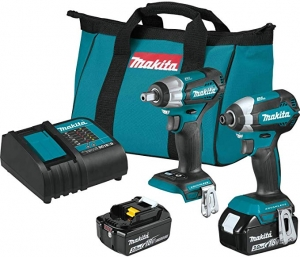 ihocon: Makita XT284SX1 18V LXT Lithium-Ion Brushless Cordless 2-Pc. Combo Kit無線電動工具