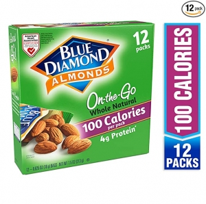ihocon: Blue Diamond Almonds On the Go 100 Calorie Packs, Whole Natural, 12 Count 杏仁