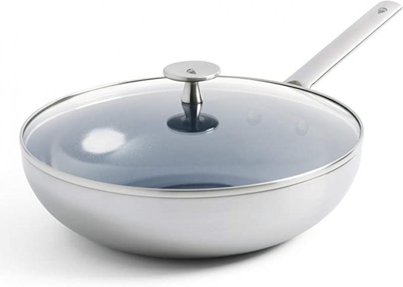 ihocon: Blue Diamond Triple Steel Diamond-Infused Ceramic Nonstick Dishwasher, 11吋 含蓋不沾鍋