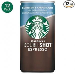 ihocon: Starbucks星巴克 Doubleshot, Espresso + Cream Light, 6.5 Ounce, 12 Pack