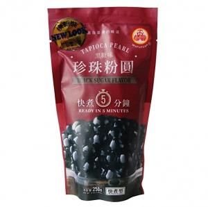 ihocon: WuFuYuan Tapioca Pearl (Black) - Net Wt. 8.8 Oz.快煮分鐘黑糖味粉圓