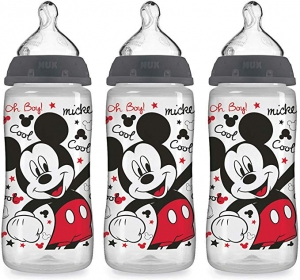 ihocon: NUK Disney Baby Bottle, Mickey Mouse, 10 Ounce (Pack of 3) 迪士尼米奇嬰兒奶瓶
