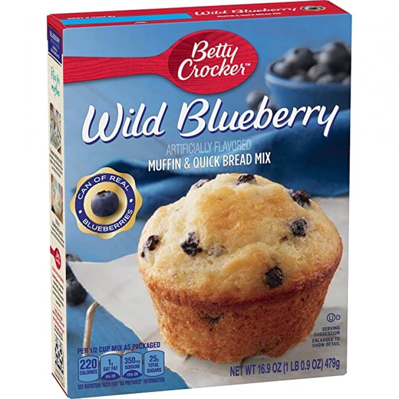 ihocon: Betty Crocker Wild Blueberry Muffin and Quick Bread Mix, 16.9 oz 藍莓鬆餅粉
