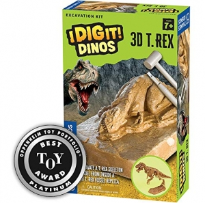 ihocon: Thames & Kosmos 657550 I Dig It! Dinos 3D T. Rex Excavation Science Kit 恐龍骨挖掘玩具