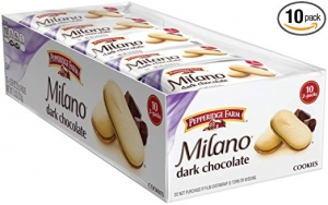 ihocon: Pepperidge Farm Milano Cookies, Dark Chocolate, 2 Count, Pack of 10 巧克力餅乾