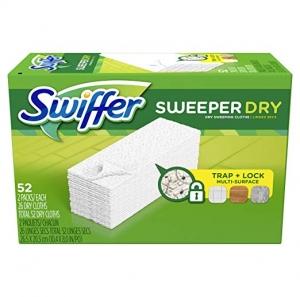 Swiffer 乾拖地巾52片裝 $7.17免運(原價$11.76)