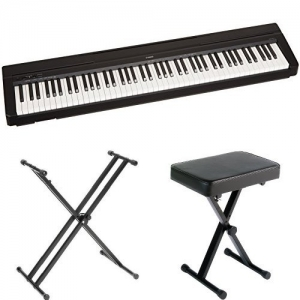 ihocon: Yamaha P71 88-Key Weighted Action Digital Piano with Sustain Pedal, Power Supply, Stand, and Bench 加重琴鍵電鋼琴, 含琴架及琴椅