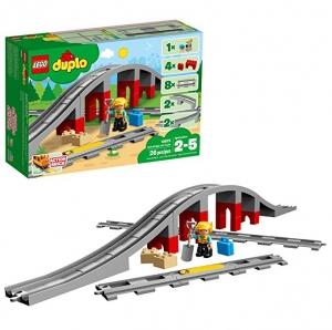 ihocon: LEGO DUPLO Train Bridge and Tracks 10872 Building Blocks (26 Pieces)