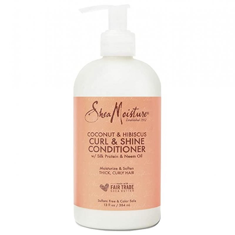ihocon: SheaMoisture Curl and Shine Conditioner for Thick, Curly Hair 13 oz 捲髮護髮乳