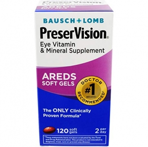 ihocon: Bausch & Lomb PreserVision Eye Vitamin & Mineral Supplement, 120-Count Soft Gels 博士倫眼睛保養品
