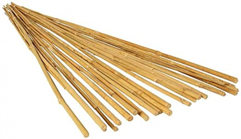 ihocon: Hydrofarm HGBB4 4' Natural, Pack of 25 Bamboo Stake, 4 foot 竹桿
