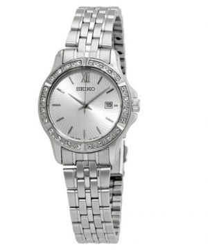 ihocon: Seiko Quartz Silver Dial Ladies Watch 精工水晶女錶