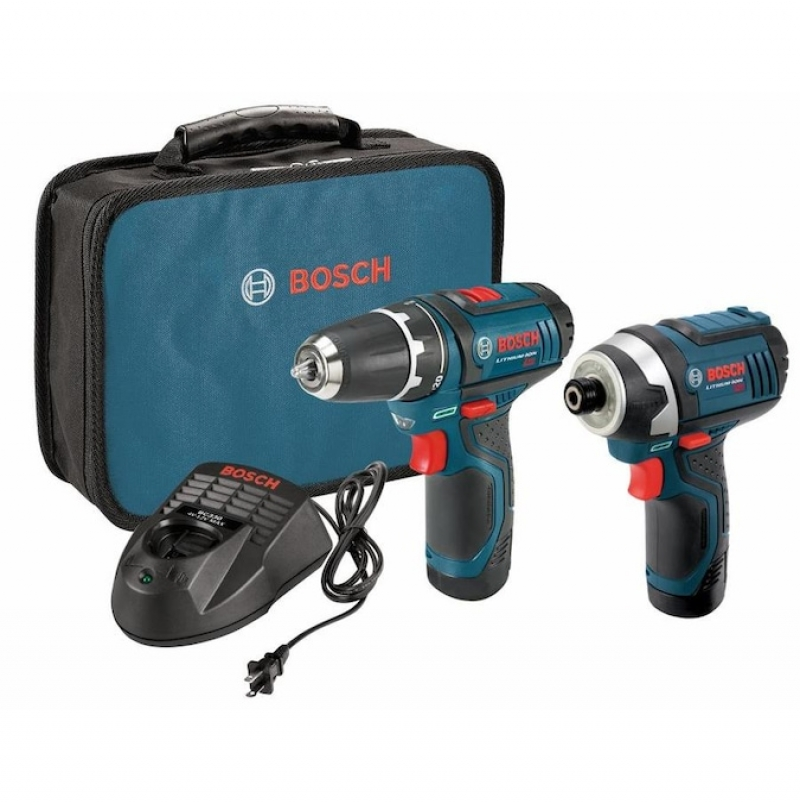 ihocon: Bosch 2-Tool 12-Volt Max Power Tool Combo Kit with Soft Case (Charger Included and 2-Batteries Included) 電動工具2個