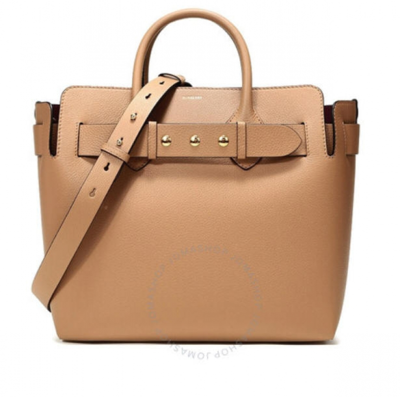 ihocon: Burberry Ladies The Medium Leather Triple Stud Belt Bag In Light Camel 包包