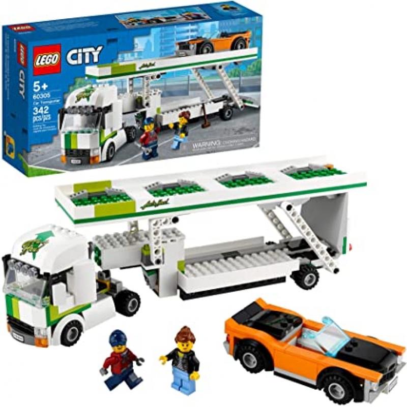 [2021新款] 樂高積木LEGO City Car Transporter 60305 Building Kit (342 Pieces) $26.99(原價$29.99)