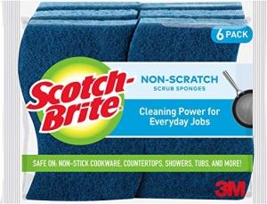 ihocon: Scotch-Brite Non-Scratch Scrub Sponge, 6 Scrub Sponges清潔海綿