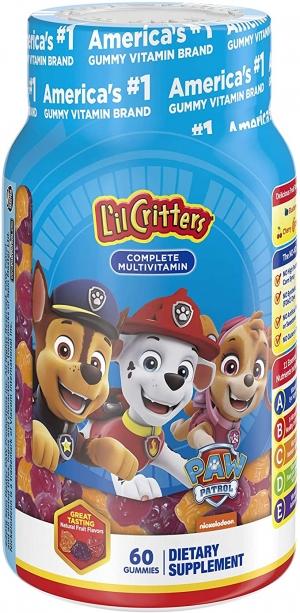 ihocon: L'il Critters Paw Patrol Complete Multivitamin Gummies, 60 count兒童綜合維他命軟糖