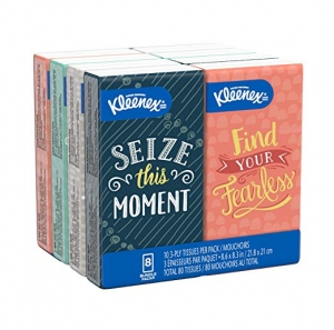 ihocon: Kleenex Trusted Care Facial Tissues, 8 On-The-Go Travel Packs, 10 Tissues per Pack (80 Tissues Total) 隨身小包面紙