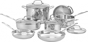 ihocon: Cuisinart 77-11G Chef's Classic Stainless 11-Piece Cookware Set不銹鋼鍋組