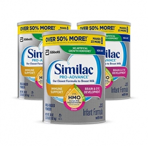 ihocon: Similac Pro-Advance Non-GMO Infant Formula with Iron, with 2'-FL HMO, for Immune Support, Baby Formula, Powder, 36 oz, 3 Count 嬰兒配方奶粉