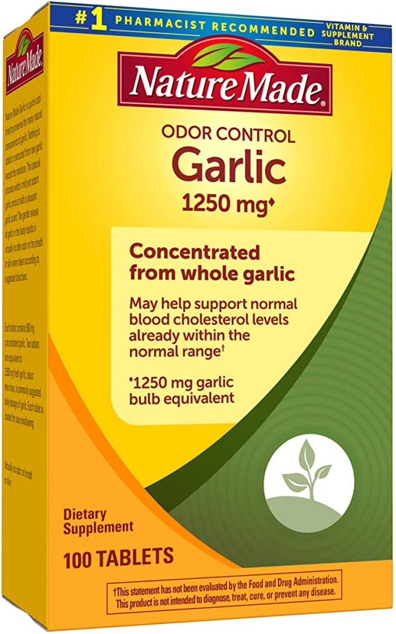 ihocon: Nature Made Odor Control Garlic Tabs 1250mg 100Ct 大蒜精