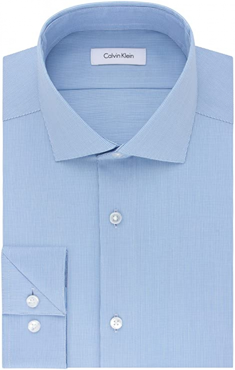 ihocon: Calvin Klein Men's Dress Shirt Slim Fit Non Iron Stretch Solid 男士襯衫