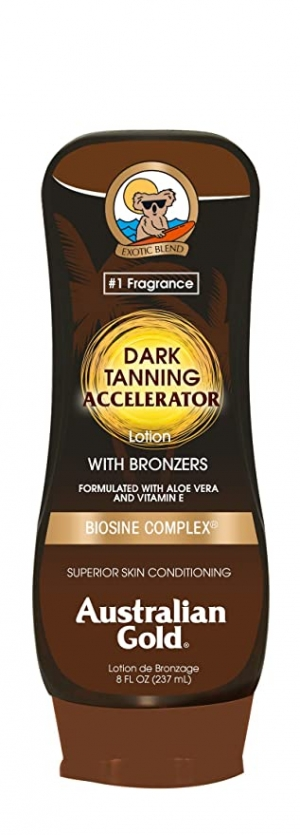 ihocon: Australian Gold Dark Tanning Accelerator Lotion With Bronzer | 8 Ounce 古銅膚助曬乳液