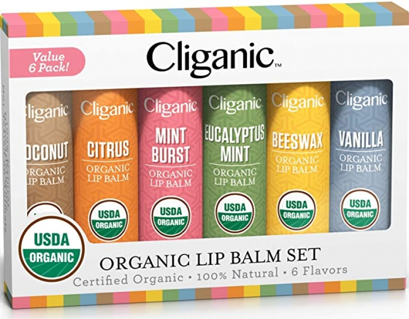 Cliganic 有機護唇膏 6支 $6.39(原價$9.99)