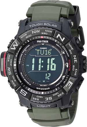 ihocon: Casio Men's Pro Trek Stainless Steel Quartz Watch with Resin Strap, Black, 20.2 (Model: PRW-3510Y-8CR) 卡西歐男錶